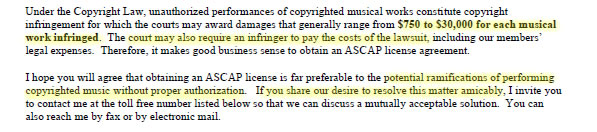 Music Licensing Letter Request