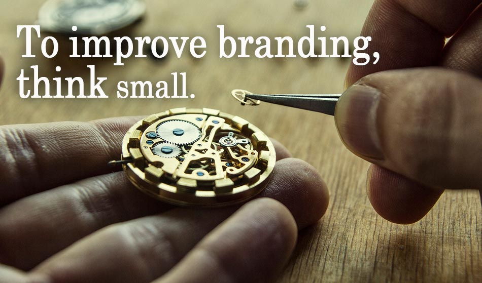 branding strategies - focus on small details image of watchmaker