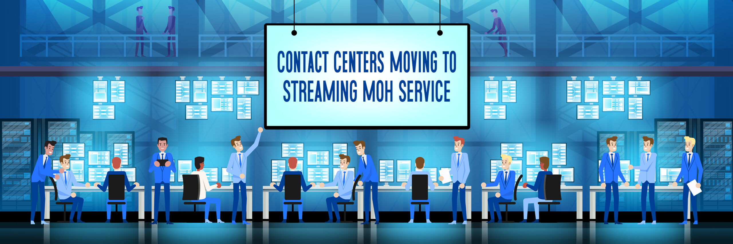 contact centers moving to streaming music service