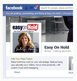 Facebook page at http://facebook.com/easyonhold