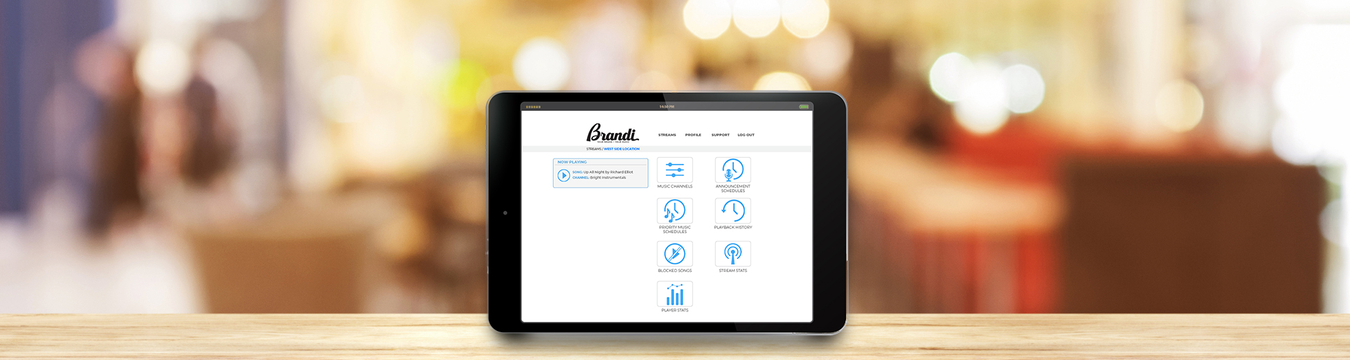 Business Music Lilcensing through Brandi Music - web app