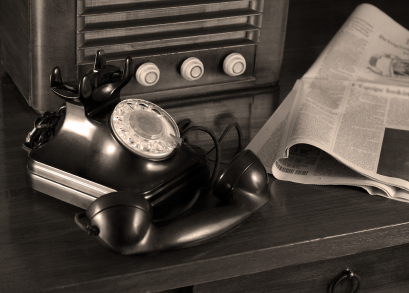 old phone and radio