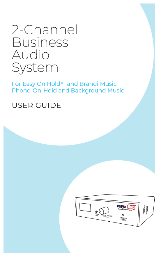 message on hold audio player and background business music device manual user guide
